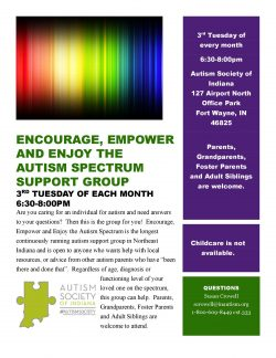 EEE Autism Spectrum Support Group (Fort Wayne) - Autism